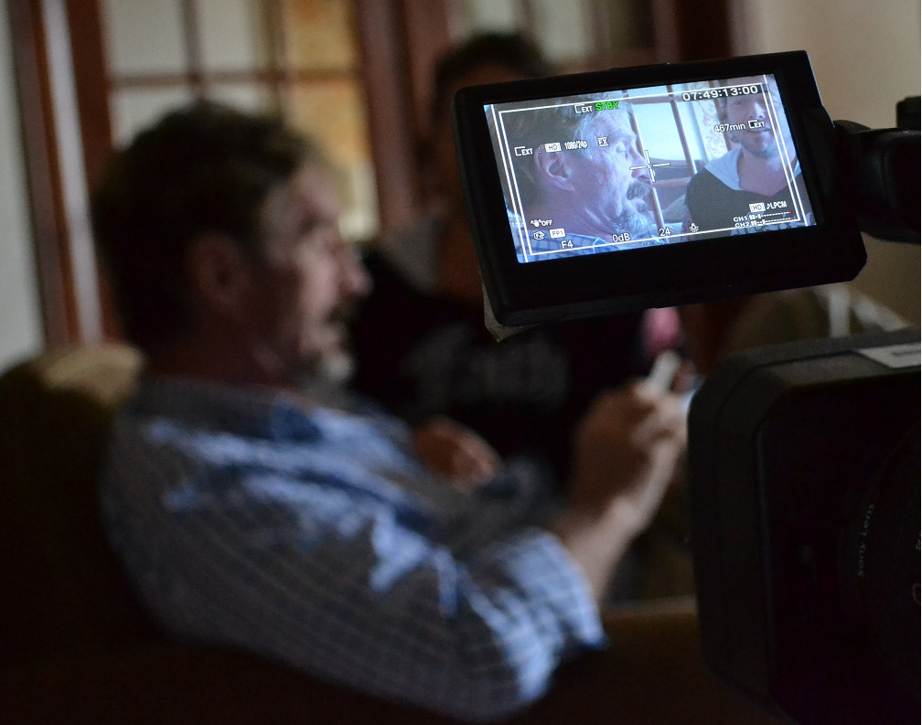 mcafee filming documentary